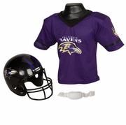 Youth Football Helmet & Jersey Set - Baltimore Ravens