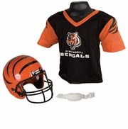 Youth Football Helmet & Jersey Set - Bengals