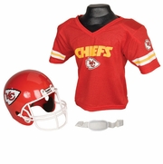 Youth Football Helmet & Jersey Set - Chiefs