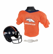 Youth Football Helmet & Jersey Set - Denver Broncos