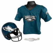 Youth Football Helmet & Jersey Set - Eagles