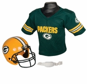 Youth Football Helmet & Jersey Set - Packers