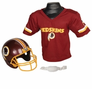 Youth Football Helmet & Jersey Set - Redskins
