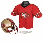 Youth Football Helmet & Jersey Set - SF 49ers