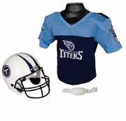 Youth Football Helmet & Jersey Set - Titans