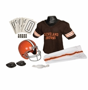 Youth Football Uniform and Helmet Set by Franklin<br><b> Cleveland Browns</b>