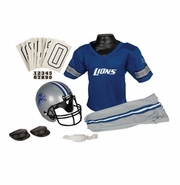Youth Football Uniform and Helmet Set by Franklin<br><b> Detroit Lions </b>