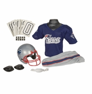 Youth Football Uniform and Helmet Set by Franklin<br><b> New England Patriots </b>