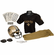 Youth Football Uniform and Helmet Set by Franklin<br><b> New Orleans Saints </b>