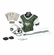 Youth Football Uniform and Helmet Set by Franklin<br><b> New York Jets </b>