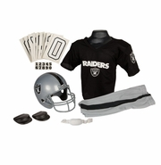 Youth Football Uniform and Helmet Set by Franklin<br><b> Oakland Raiders </b>