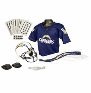 Youth Football Uniform and Helmet Set by Franklin<br><b> San Diego Chargers </b>