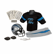 Youth Football Uniform & Helmet Set by Franklin<br><b> Carolina Panthers </b>