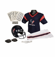 Youth Football Uniform & Helmet Set by Franklin<br><b> Houston Texans </b>