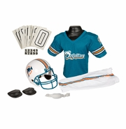 Youth Football Uniform & Helmet Set by Franklin<br><b> Miami Dolphins </b>