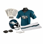 Youth Football Uniform & Helmet Set by Franklin<br><b> Philadelphia Eagles </b>