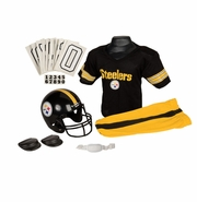 Youth Football Uniform & Helmet Set by Franklin<br><b> Pittsburgh Steelers </b>
