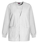 CHE 4301 Cardigan Warm-Up Jacket White w/ Norwich Tech LPN logo