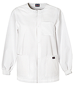 CHE 4450 Men's Snap Front Warm-Up Jacket White w/ Norwich Tech LPN logo