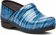 DANSKO Pro XP Blue Striped Patent - SLIP RESISTANT