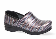 DANSKO Pro XP Grey Striped Patent - SLIP RESISTANT