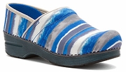 DANSKO Professional Blue Watercolor Stripe
