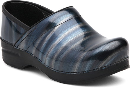 DANSKO Professional Silver/Blue Stripes