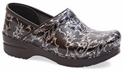 Dansko Professional Silver Floral Patent