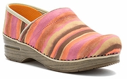 DANSKO Professional Tangerine Watercolor Stripe