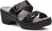 DANSKO Sophie Black Python Leather