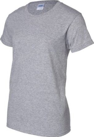 G200L Ladies Grey T-Shirt with Logo