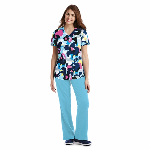 Grey's Anatomy<sup>TM</sup> 41386 Print Top - Catarina