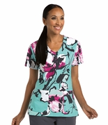 Grey's Anatomy<sup>TM</sup> Singature 2138 Print Top - Fresh Orchid