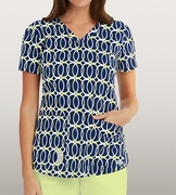 Grey's Anatomy<sup>TM</sup> 41386 Print Top - Lemon Rings