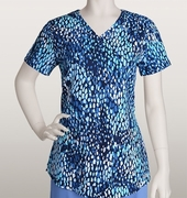Grey's Anatomy<sup>TM</sup> 41386 Junior Himalaya Print Top