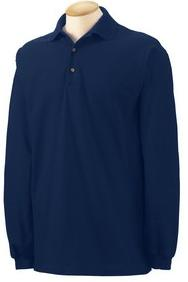 K500LS Long Sleeve Navy Polo with Emrboidery