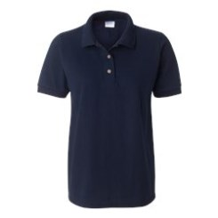 L500 Ladies Navy Polo with Embroidery