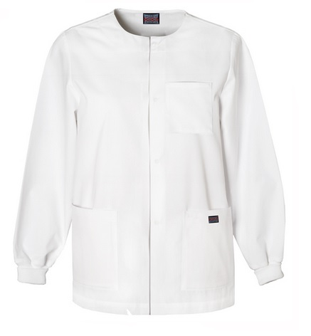 Men's Swoop Neck Warm-Up Jacket 4450 White