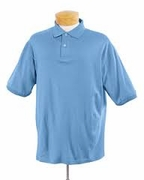 Short Sleeve Polo Shirt Light Blue 437