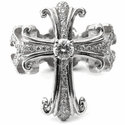 Dainty O.G. Cross Envelop Ring Morphine Ferry True Cross