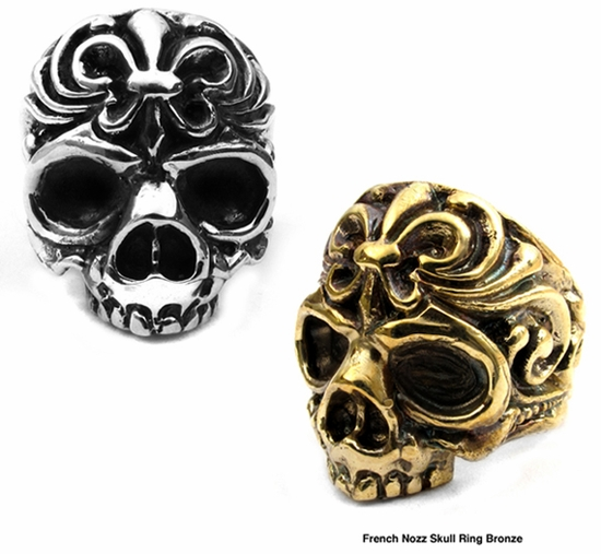 French Nozz Skull Rings