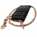 Trafficante Wallet 18K Rose Gold with Diamonds