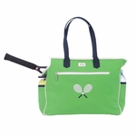 Crossed Racquets Green Tennis Court Bag