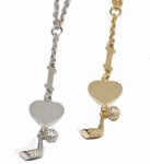 """I Heart Golf"" Forzatina Necklace"