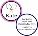 Pink Tennis Personalized Bag Tag - SET OF 2