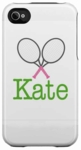Tennis Personalized iPhone or iTouch Cover