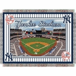 New York Yankees Yankee Stadium Opening Day Commemorative Woven Tapestry Throw