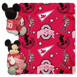 Ohio State Buckeyes Mickey Mouse with Throw Combo