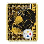 Pittsburgh Steelers Double Play Woven Tapestry Throw