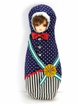 CHIBI Matryoshka Costume (Navy Blue Polka Dot)